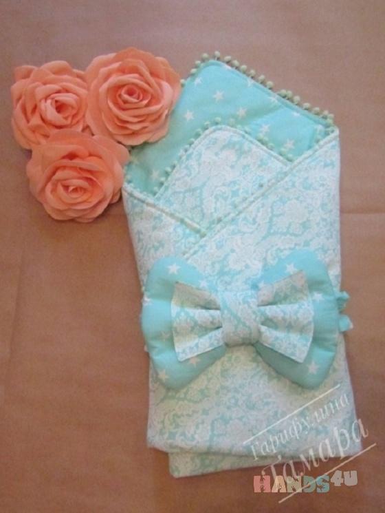 Купить Конверт-одеяло на выписку Морская волна, Конверты, Для новорожденных, Работы для детей ручной работы. Мастер Тамара Гарифулина (TamaraGar) . конверт для новорожденного