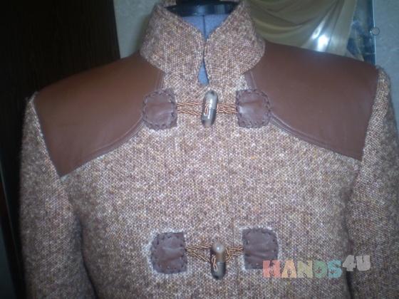 Купить Куртка тёплая из натуральных материалов, Куртки, Верхняя одежда, Одежда ручной работы. Мастер Иринна  (irinnaN) . 100 пр шерсть