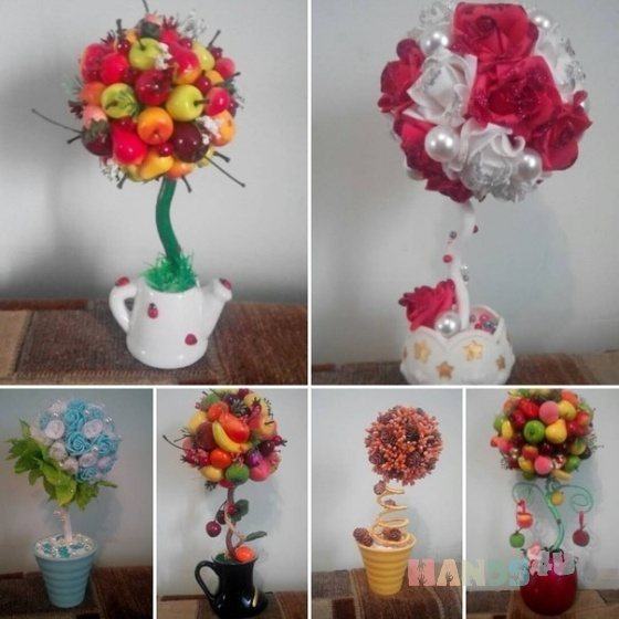 Купить Топиарий, Топиарии, Цветы и флористика ручной работы. Мастер Зульфия Сальникова (Markizetta) .