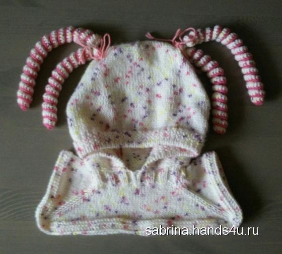 Купить Шапка шлем для девочки, Шапочки, шарфики, Одежда для девочек, Работы для детей ручной работы. Мастер Александра  (Sabrina) . ручная работа