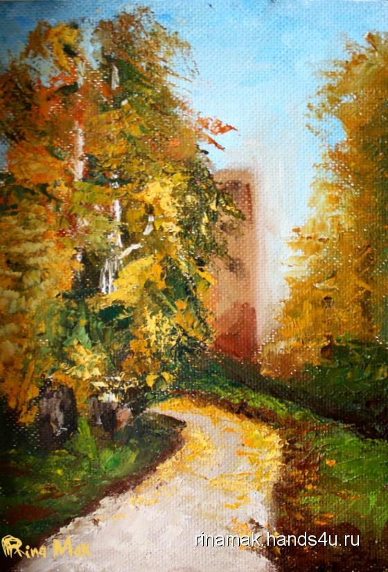 Купить Картина  Золотая пора, Пейзаж, Картины и панно ручной работы. Мастер Рина Мак (Rinamak) .