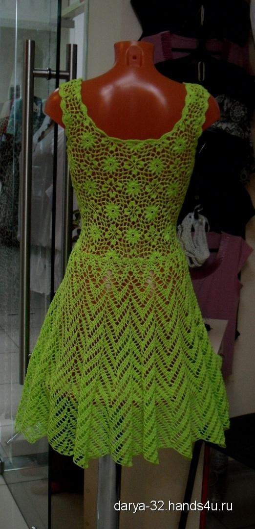 Купить Летнее платье Нежный цветок, Вязаные, Повседневные, Платья, Одежда ручной работы. Мастер Дарья Амплеева (Darya-32) . платье