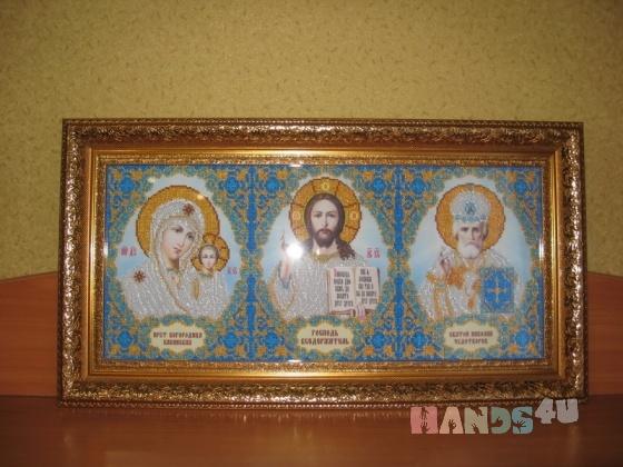Купить Икона Домашний иконостас вышитая бисером, Иконы, Картины и панно ручной работы. Мастер Елена Моночкова (Cat-fold) . домашний иконостас