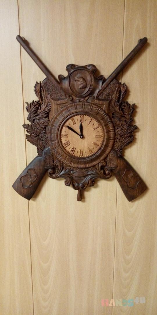 Купить Часы Охота, Для дома и интерьера ручной работы. Мастер Вячеслав Есин (Slav) . часы настенные