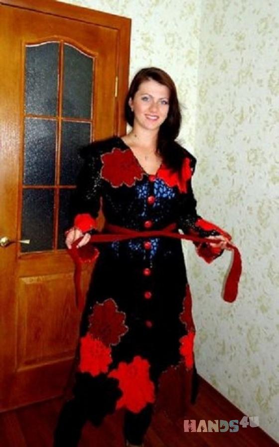 Купить Пальто Осенний листопад, Пальто, Верхняя одежда, Одежда ручной работы. Мастер Светлана Костюченко (Kvitka) .