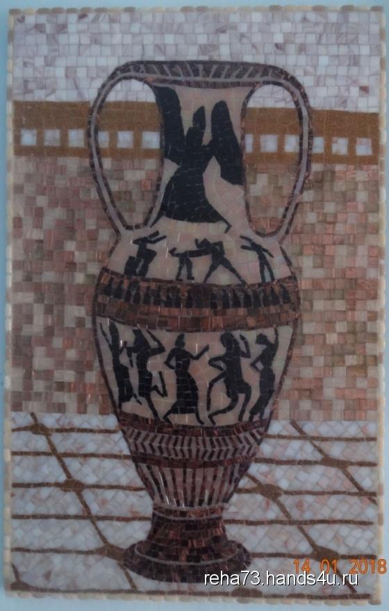 Купить Мозаичное панно КУВШИН, Животные, Картины и панно ручной работы. Мастер Игорь Рёхин (reha73) . мозаика