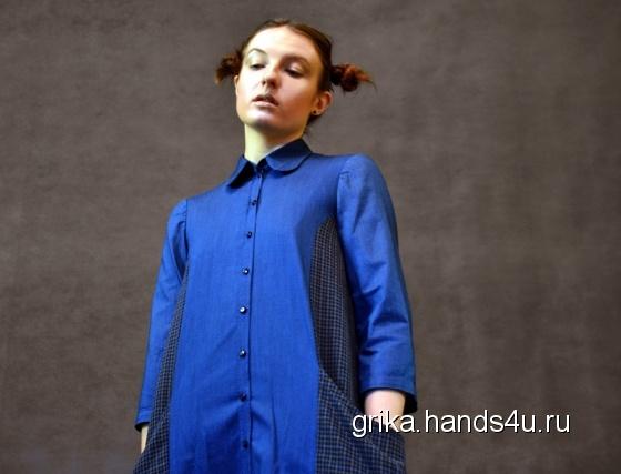 Купить Расклешенное платье-рубашка, Шитые, Повседневные, Платья, Одежда ручной работы. Мастер Виктория Гречко (Grika) . платье