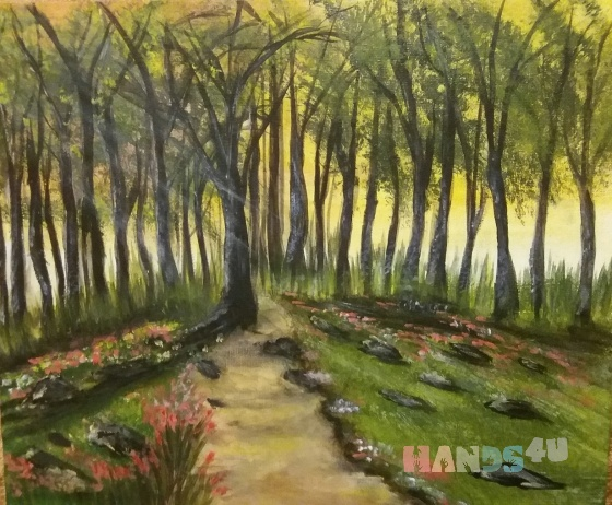 Купить Сказочный Лес, Пейзаж, Картины и панно ручной работы. Мастер Екатерина  (Katrina7) . акриловые краски