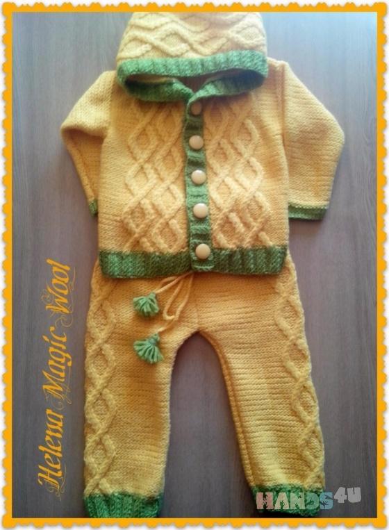 вязаный костюм для мальчика или девочки на возраст год полтора Id