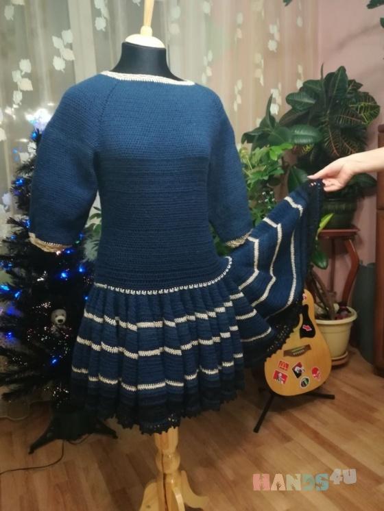 Купить Платье Юбка клеш, Вязаные, Вечерние, Платья, Одежда ручной работы. Мастер Лариса Блинкова (larusya) . авторское платье