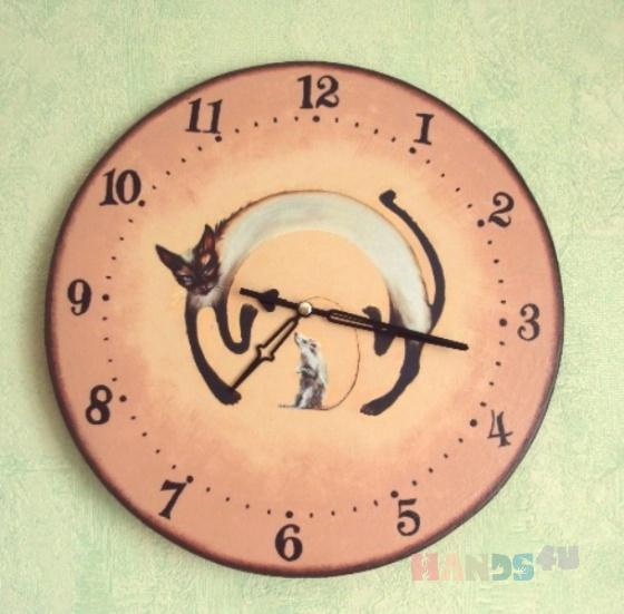 Купить Часы  Верные друзья, Настенные, Часы для дома, Для дома и интерьера ручной работы. Мастер Татьяна Макарова (TatianaM) .