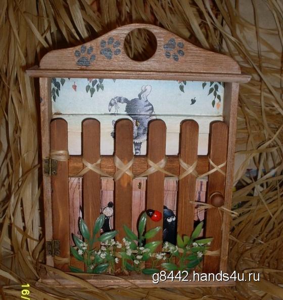 Купить Ключница Кошачья жизнь, Ключницы, Прихожая, Для дома и интерьера ручной работы. Мастер Ольга  (g8442) . подарок