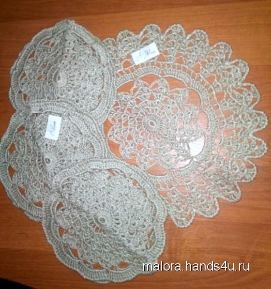 Купить  Набор салфеток для чая 1, Декоративные салфетки, Текстиль, ковры, Для дома и интерьера ручной работы. Мастер Лора мама (malora) . лен натуральный