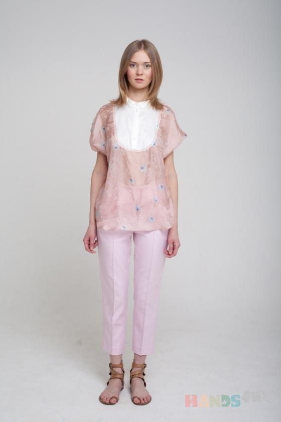 Купить Блузка из розового шелка, Блузки, Одежда ручной работы. Мастер Оксана ЛИ (sanastudio) . блуза летняя