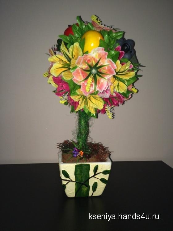 Купить  Топиарий Дерево урожая, Персональные подарки, Подарки к праздникам ручной работы. Мастер Ксения Кочергина (kseniya) .