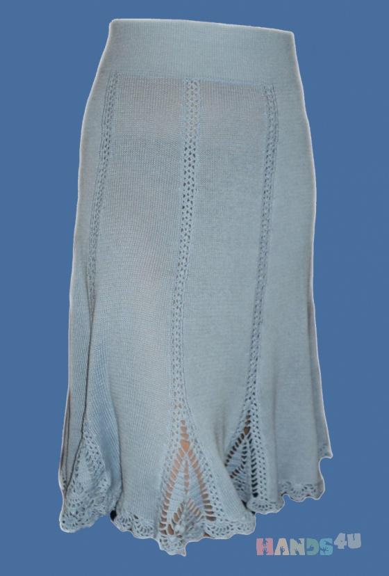 Купить Юбка-годе с ажурными вставками, Вязаные, Юбки, Одежда ручной работы. Мастер Nataal  (Nataal) . вязаная юбка