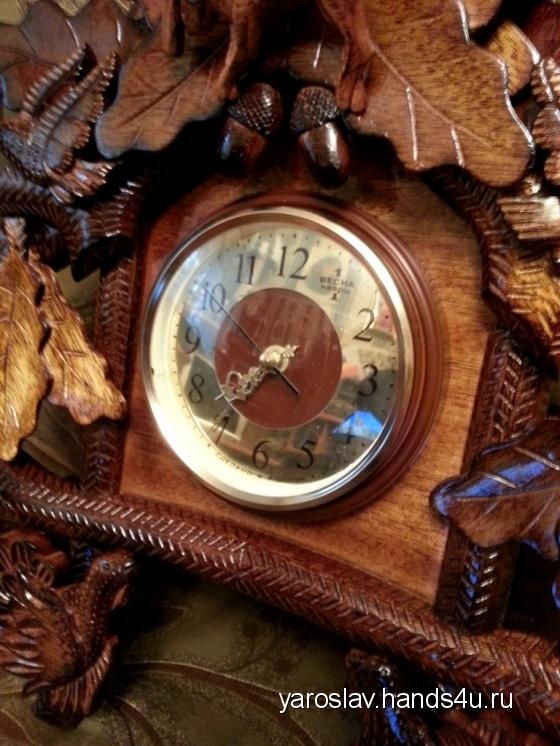 Купить Часы настенные красного дерева, Настенные, Часы для дома, Для дома и интерьера ручной работы. Мастер Ярослав Непомнящий (Yaroslav) . настенные часы