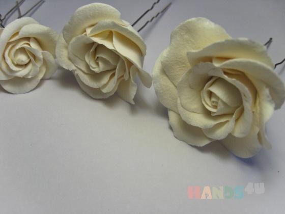 Купить Шпильки Розы для невесты, Для прически, Свадебные украшения, Свадебный салон ручной работы. Мастер Ольга Ребристая (colibri) .
