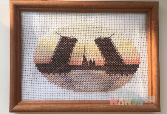 Купить Вышивка Разводные мосты, Пейзаж, Картины и панно ручной работы. Мастер Анастастасия Пивоварова (Nastya) . вышивка крестом