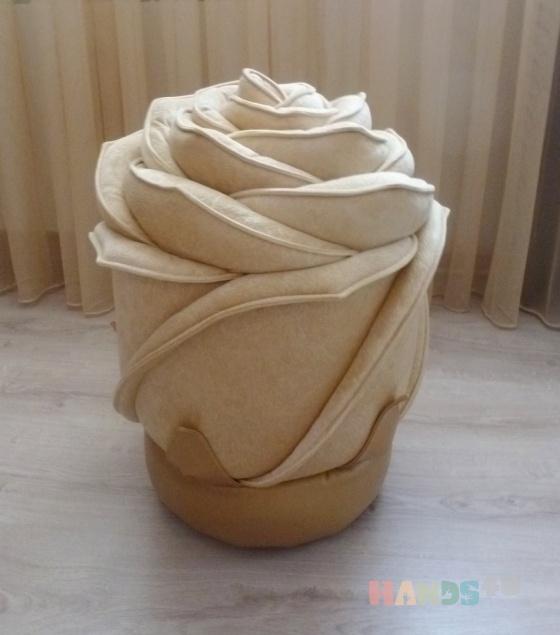 Купить Пуф Роза, Кресла, Мебель, Для дома и интерьера ручной работы. Мастер Вера Баюнова (darinadekor) . мебельная ткань