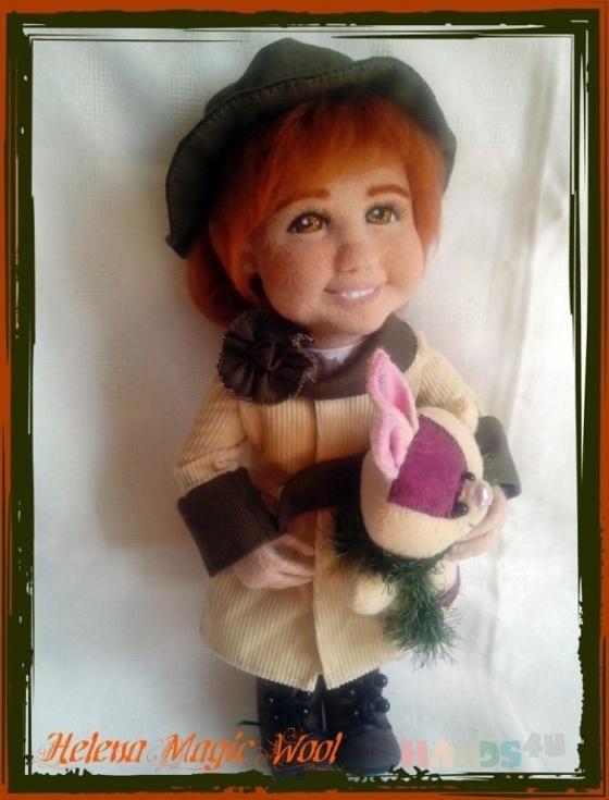 Купить Сонечка, Войлочные, Коллекционные куклы, Куклы и игрушки ручной работы. Мастер Елена Масур (ElenaMasyr) . кукла