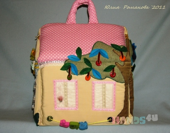 Купить Кукольный домик, Кукольный дом, Куклы и игрушки ручной работы. Мастер Юлия Романова (TeplO) . развивающая игрушка
