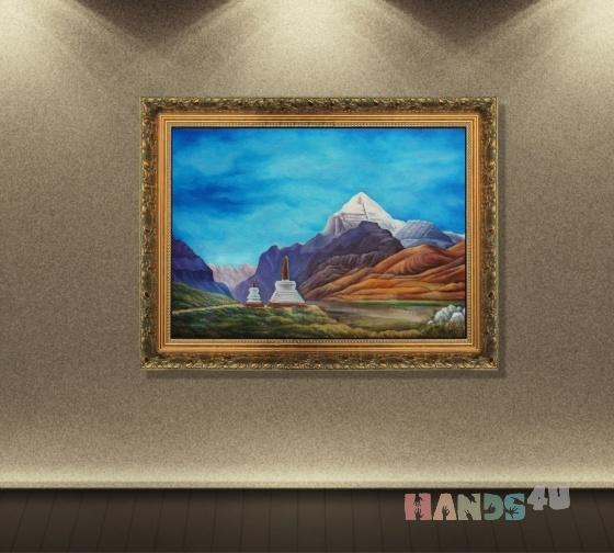 Купить Священная гора Кайлас - великий Тибет, Пейзаж, Картины и панно ручной работы. Мастер Александр Сабинин (Artend) . высококачественные художественные масляные краски