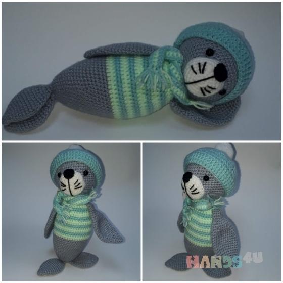 Купить тюлень, Другие животные, Зверята, Куклы и игрушки ручной работы. Мастер Светлана Тирских (svetik01) . вязаная игрушка
