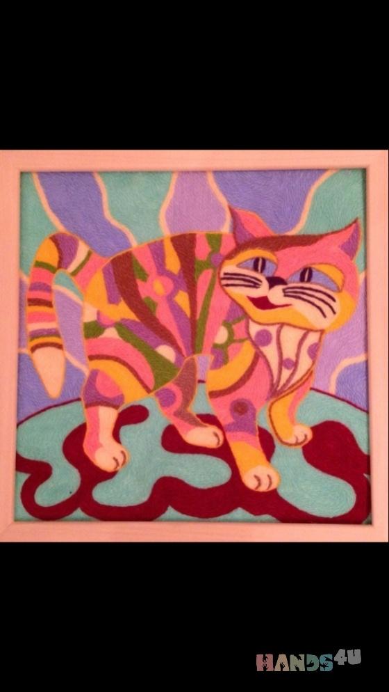 Купить Фантазийный кот, Животные, Картины и панно ручной работы. Мастер Виктория Шемякова (ViktoriaSh) . в подарок