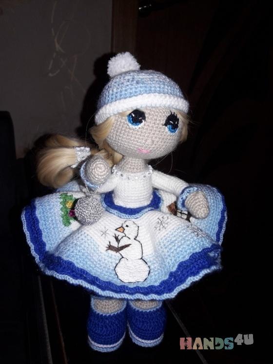 Купить кукла Снежа, Куклы и игрушки ручной работы. Мастер Юлия Семенычева (feechki6991) . вязаная кукла