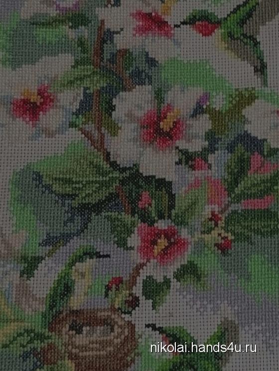 Купить Райский сад, Картины цветов, Картины и панно ручной работы. Мастер Николай Гусев (Nikolai) . авторская ручная вышивка