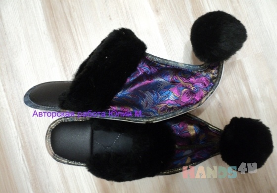 Купить Тапочки ручной работы, Домашние тапочки, Обувь ручной работы. Мастер Юлия  (vostok) . авторская работа