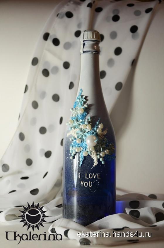 Купить Свадебное шампанское, Подарки для влюбленных, Подарки к праздникам ручной работы. Мастер Екатерина Кириллова (Ekaterina) .
