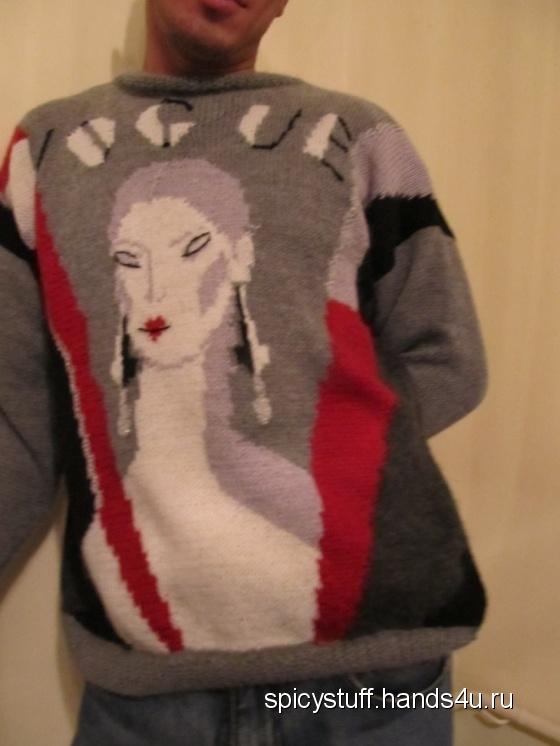 Купить Пуловер Искры Vogue, Пуловеры, Кофты и свитера, Одежда ручной работы. Мастер Татьяна Гурова (SpicyStuff) .