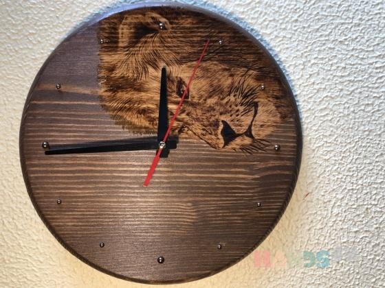Купить Часы настенные Лев, Настенные, Часы для дома, Для дома и интерьера ручной работы. Мастер Ю С (Ju-lisa) . авторские часы