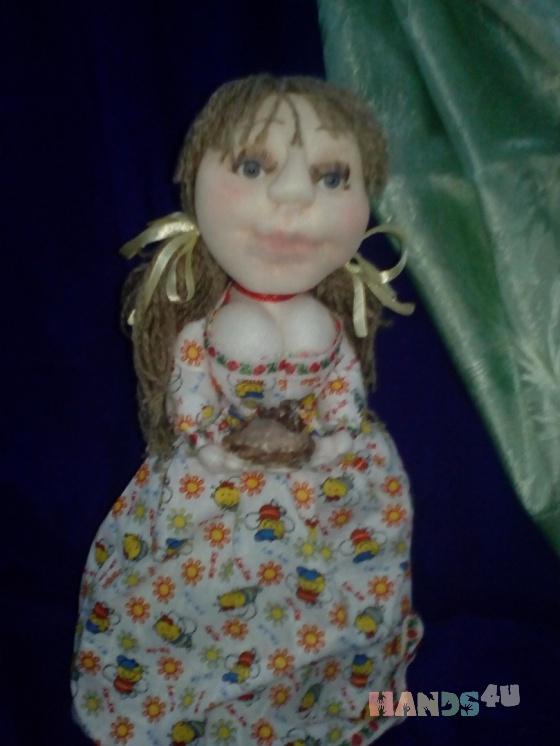Купить Кукла пакетница Настенька, Текстильные, Коллекционные куклы, Куклы и игрушки ручной работы. Мастер Ольга Красницкая (krasoliadoll) . авторская кукла