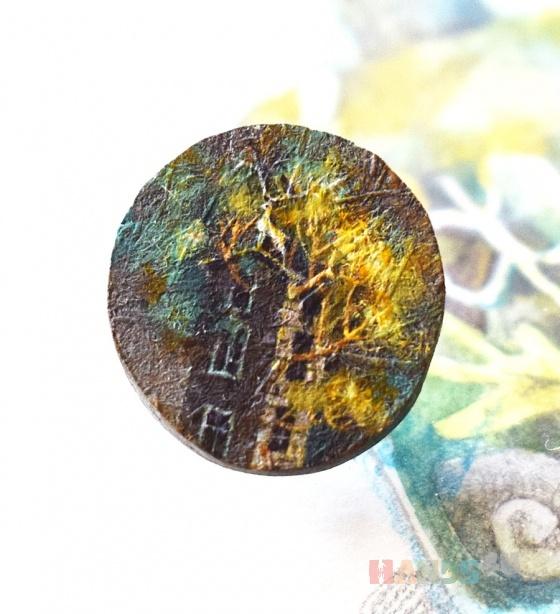 Купить В заброшенном саду, Роспись, Броши, Украшения ручной работы. Мастер Наталья Малявка (the-moooon) . авторская брошь