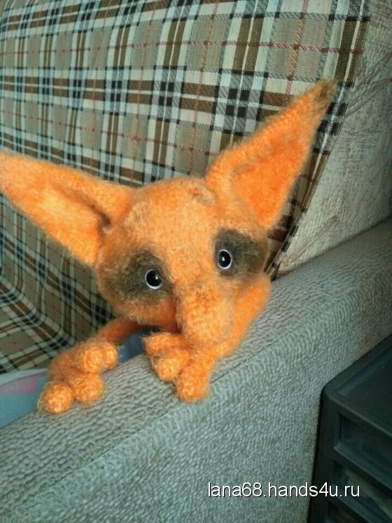 Купить Одинокий лис, Другие животные, Зверята, Куклы и игрушки ручной работы. Мастер Светлана  (Lana68) . вязаная игрушка