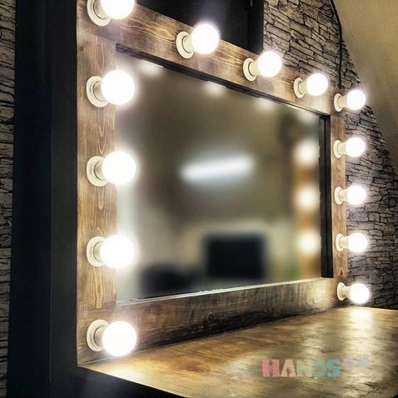 Купить Гримерная станция Misterylight, Большие, Зеркала, Для дома и интерьера ручной работы. Мастер light mistery (misterylight) . массив сосны