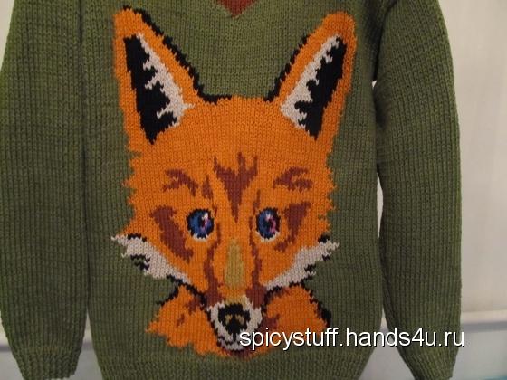 Купить Пуловер для Лисички, Пуловеры, Кофты и свитера, Одежда ручной работы. Мастер Татьяна Гурова (SpicyStuff) .