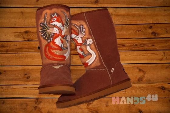 Купить Угги Лиса, Обувь ручной работы. Мастер Анастасия Аникеева (anastasiya) . зимняя обувь