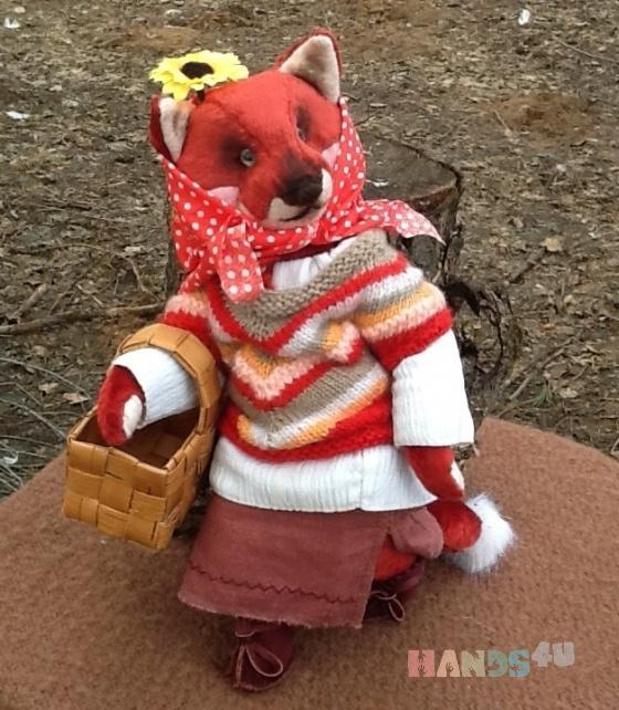Купить Деревенская лисичка, Друзья Тедди, Мишки Тедди, Куклы и игрушки ручной работы. Мастер Надежда Федорова (lisichka) . мишка тедди