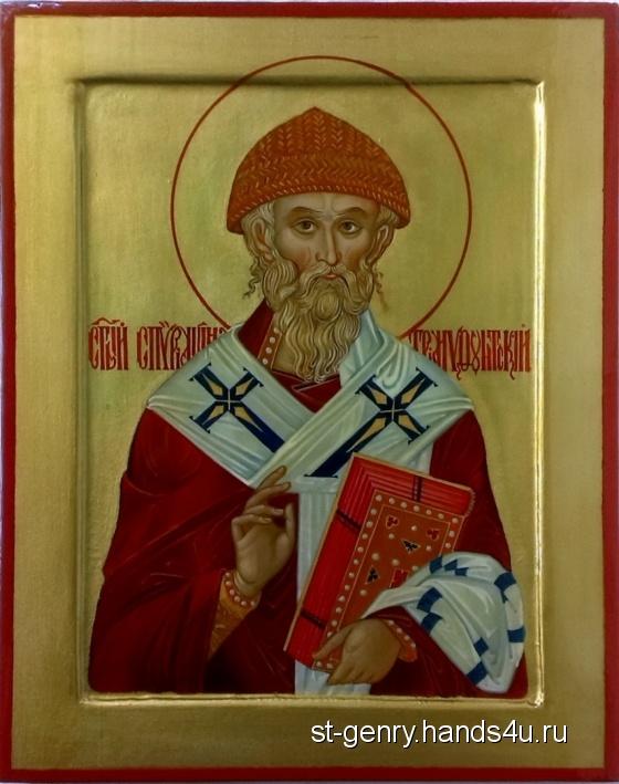 Купить Икона Святой Спиридон Тримифунтский, Иконы, Картины и панно ручной работы. Мастер Геннадий Степанов (St-Genry) .