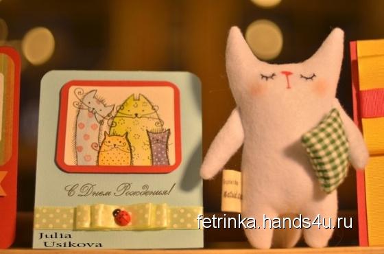 Купить Котенок Соня, Коты, Зверята, Куклы и игрушки ручной работы. Мастер Юлия Усикова (Fetrinka) .