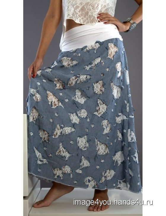 Купить Летняя длинная юбка Ажурная, Шитые, Юбки, Одежда ручной работы. Мастер Лариса Коган (image4you) . ажурная юбка