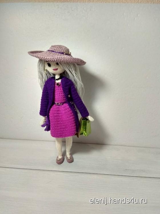 Купить Ева Вязаная каркасная кукла, Текстильные, Коллекционные куклы, Куклы и игрушки ручной работы. Мастер Елена Варганова (Elenij) . авторский подарок ручной  работы