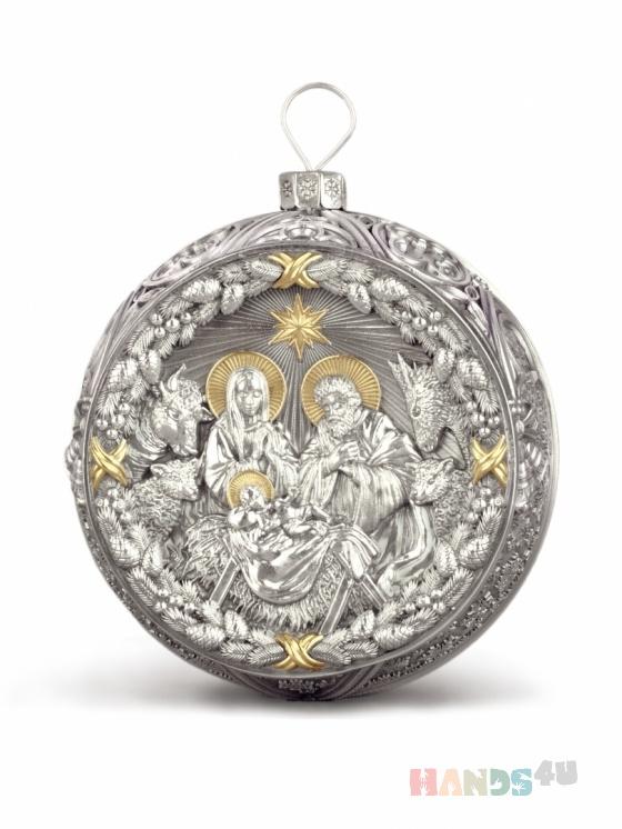 Купить Серебряный рождественский шар, Сувениры и подарки ручной работы. Мастер Ко Хо (hoko) . серебро 999 пробы