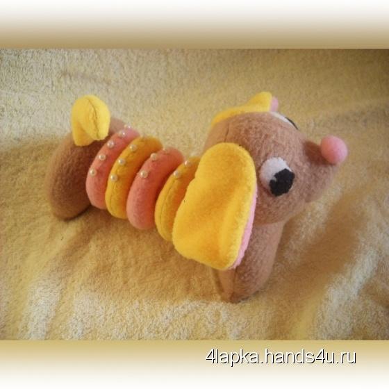 Купить Собачка Барбариска, Развивающие игрушки, Куклы и игрушки ручной работы. Мастер Ольга Колдомаева (4lapka) . игрушка