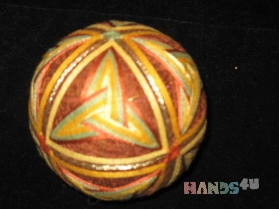 Купить Золотая осень, Темари, Сувениры и подарки ручной работы. Мастер Анна Сорокина (leonard) .