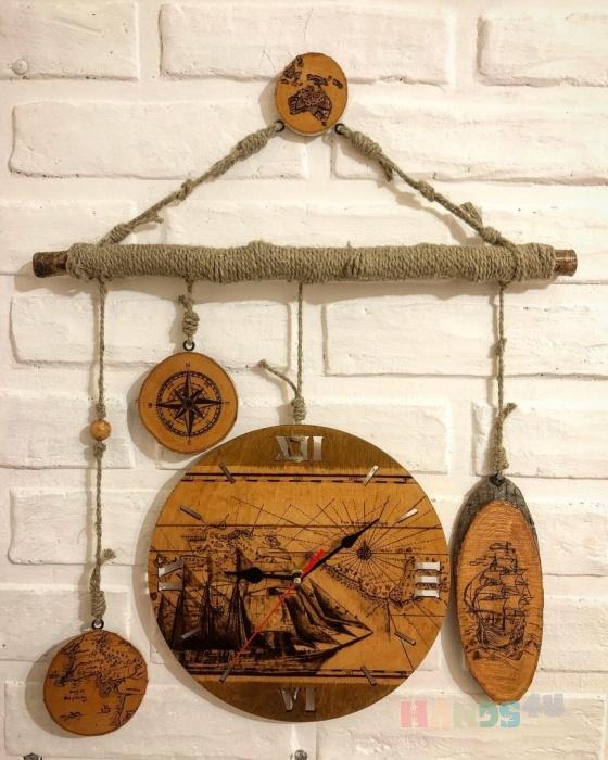 Купить Часы настенные Корабль, Настенные, Часы для дома, Для дома и интерьера ручной работы. Мастер Ю С (Ju-lisa) . часы